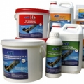 The ACTI range for water treatment is also available for spas