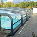 The DELTA pool shelters by ABRITECH, great value from PROCOPI