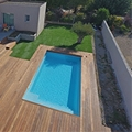 Sherry Lounge : the ne model of swimming pool by Piscines Prestige Polyester