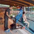 UNI KART, the first ever dipper pool lift without a motor or hydraulic system