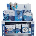 A practical display case for LIFE spa products