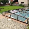 Viva by Alukov, the telescopic low pool enclosure with only one rail