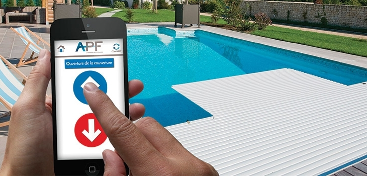 Contrôle distance couverture piscine application APF Connect – Cover Control