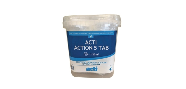 traitement eau piscine multi-actions ACTI ACTION 5 TAB