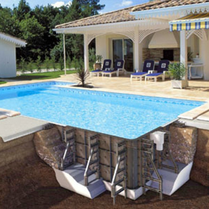 PPP prefabricated swimming pool structure by Procopi ...