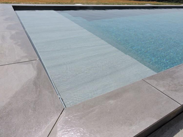 habillage de couverture immergée de piscine Top Cover