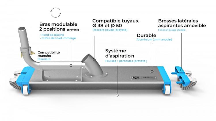 Explications usage du balai de nettoyage piscine et coffre Twist Pro