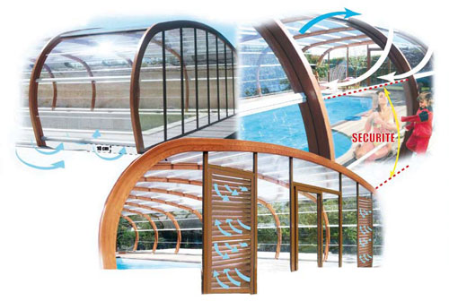 Le r seau everblue propose un abri de piscine haut fixe for Piscine miroir everblue