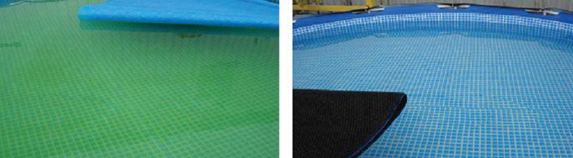 Un type de couverture qui repousse les algues de piscines for Algues de piscine