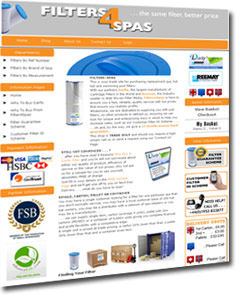 Filters 4 spas website