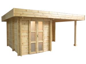 L 39 abri spa sauna ext rieur de woodline - Sauna bois exterieur ...