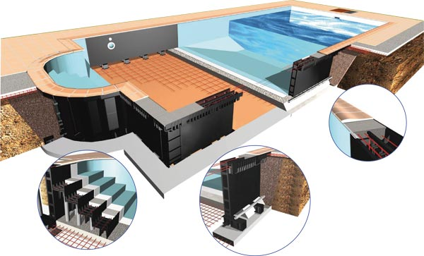 A swimming pool construction concept that is more relevant for Mondial piscine