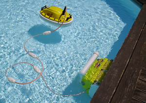 Nettuno plus robot de piscine muni de batterie for Robot piscine sur batterie