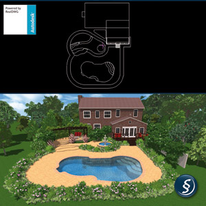 Direct import autocad for Virtual swimming pool design