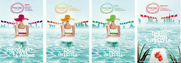 4 affiches Piscine Global