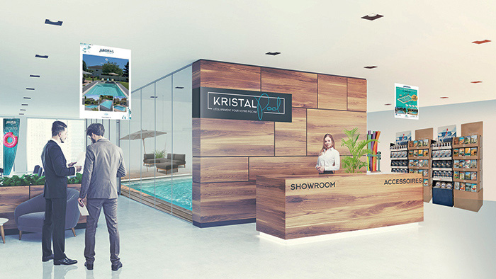 kristal pool aboral ecp Showroom 3D