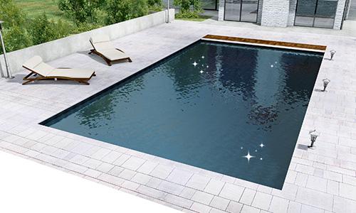 Liners pour piscine imprim s vernis effet nacr for Liner gris pour piscine