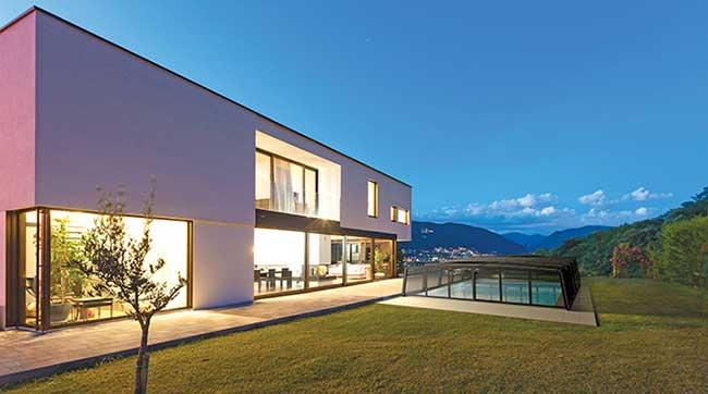 Abri haut piscine R-Design d'Azenco