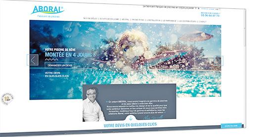 Rafraichissement du site web aboral for Aboral piscine