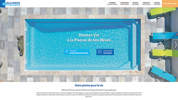 site web Alliance Piscines