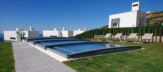 abri piscine télescopique Néo Smart Azenco