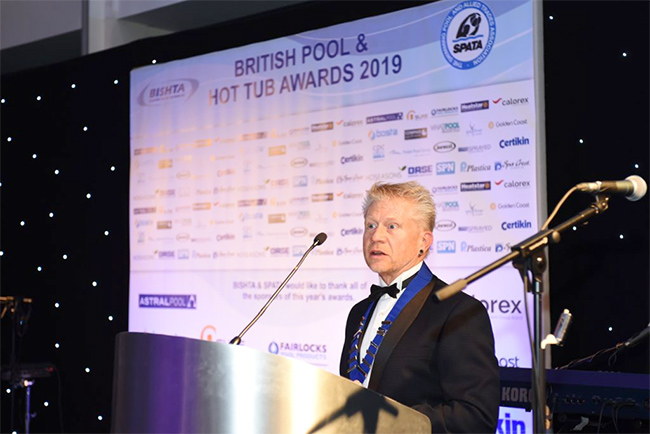 The British Pool and Hot Tub Award 2019 - Will Dando - BSPF President