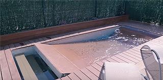 Un plancher mobile pour piscine innovant for Piscine plancher mobile