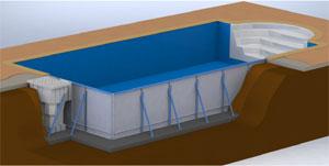 Des kits piscines complets tr s rapides monter for Piscine floirac