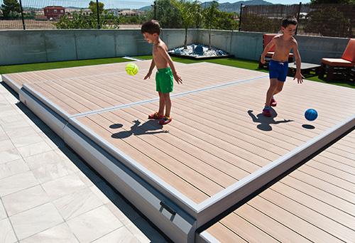 La plateforme mobile deckwell terrasse et protection pour la piscine euro - Protection piscine amovible ...