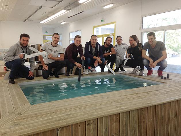 La nouvelle promotion des apprentis du centre de formation for Construction piscine grasse