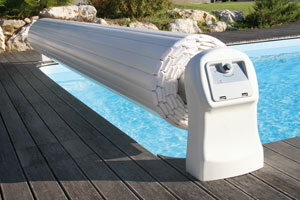 Coming soon the automatic pool cover with a water driven for Automatic pool cover motor replacement