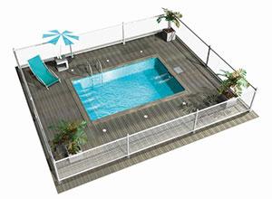 La nouvelle mini piscine mini 39 piscine 3 en 1 de mondial for Autorisation pour piscine