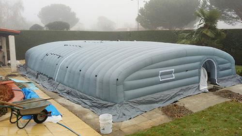Pool up l abri de chantier pour construire des piscines for Abris de piscine occasion belgique