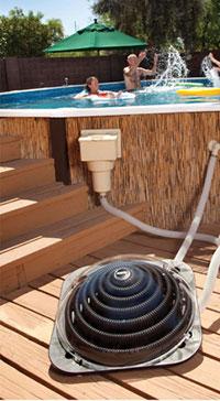 Les piscines hors sol ont leur chauffage solaire for Chauffer piscine hors sol