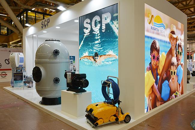 SCP Italy al salone Forum Piscine 2019: Corner pubblico e Busatta