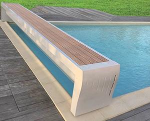 banc ouvert Prestige couverture securite piscine sofatec
