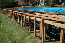 des formations la conception et la pose d 39 une terrasse en bois de piscine. Black Bedroom Furniture Sets. Home Design Ideas