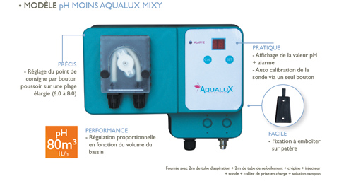 Catalogue complet aqualux 2014 disponible for Pompe doseuse ph piscine