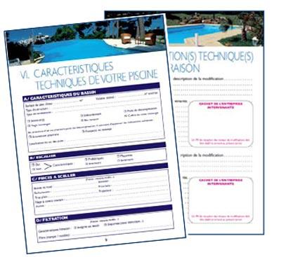 le carnet d 39 entretien de la piscine pour un suivi