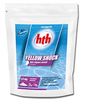 Yellow shock de hth pour un traitement curatif anti algues for Dosage sulfate de cuivre piscine