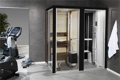 Sauna et hammam dans une m me cabine - Cabine sauna hammam combine ...
