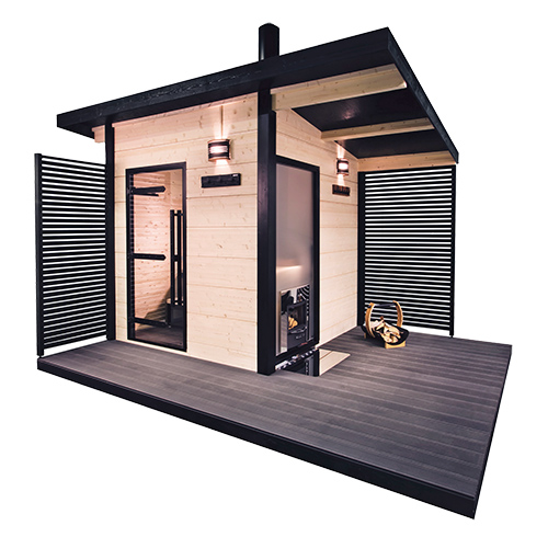 harvia solide le nouveau sauna ext rieur tr s design. Black Bedroom Furniture Sets. Home Design Ideas