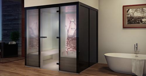 le nouveau concept de bain de vapeur panacea. Black Bedroom Furniture Sets. Home Design Ideas