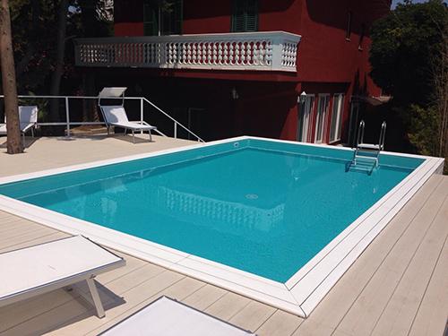 Primaverapool la prima piscina fuoriterra nella quale nuotare divertirsi - Trattamento antialghe piscina ...