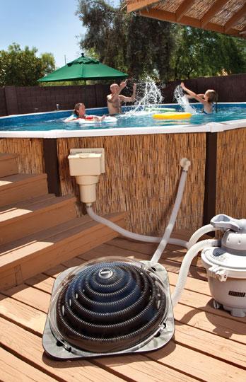 les piscines hors sol ont aussi leur chauffage solaire. Black Bedroom Furniture Sets. Home Design Ideas