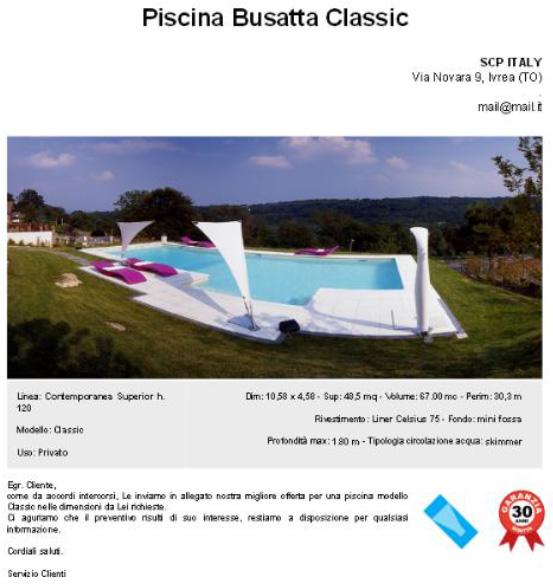 Busatta piscine presenta un nuovo for Busatta piscine prezzi