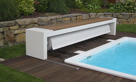 Le volet mobile pour piscine esth tique avec son coffre for Systeme hors gel pour piscine